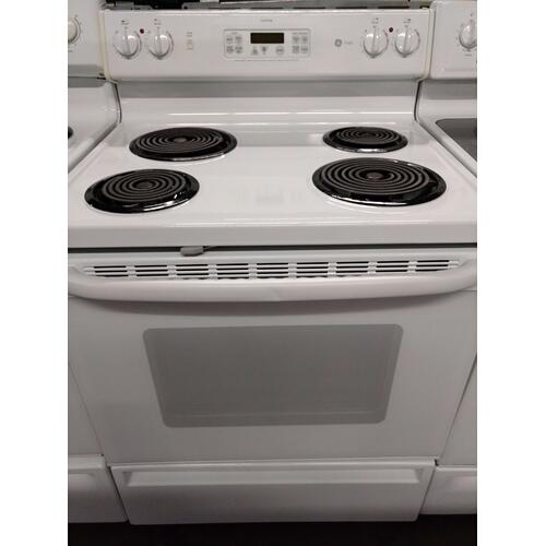 White GE Coil Top Range (This is a Stock Photo, actual unit (s) appearance may contain cosmetic blemishes. Please call store if you would like actual pictures). REBATE NOT VALID with this item.  ISI 39513