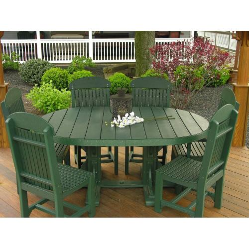 Amish Furniture - 4' x 6' Oval Table Set