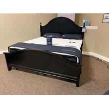 Black King Bed with Headboard and Footboard