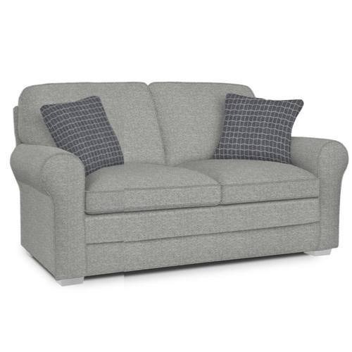 Best Home Furnishings - NICODEMUS LOVESEAT Stationary Loveseat - 19173 Granite, Pillows 28573B Charcoal