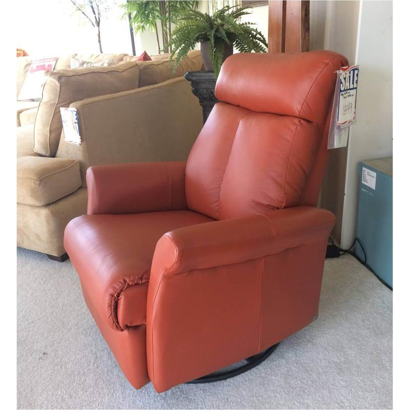Elran leather power recliner w/swivel