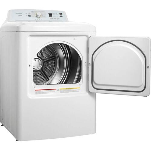 Insignia 4.1 Cu. Ft. Top Load Washer and 6.7 Cu. Ft. 10-Cycle Electric Dryer - White