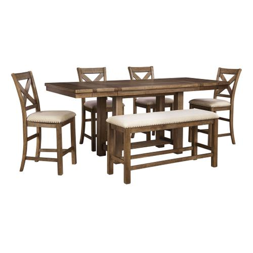 Leonardo Table Four Chairs and Bench