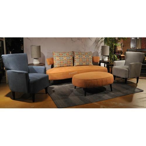 Ashley 244 Hollyann Rust Sofa and Oversize Ottoman