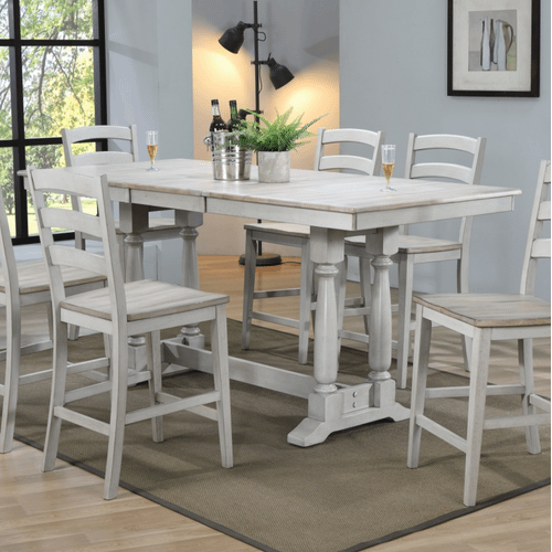 Winners Only - 7 Piece Set (Pub Table and 6 Barstools)