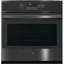 "GE 5.0CF Black Stainless Steel 30"" Electric Convection Wall Oven with Self Clean"