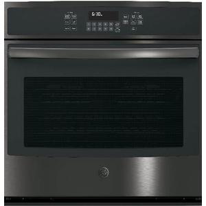 """GE 5.0CF Black Stainless Steel 30"""" Electric Convection Wall Oven with Self Clean"""