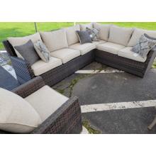 View Product - Sofa SEC/Chair w/CUSH (3/CN) Dark Brown/Beige