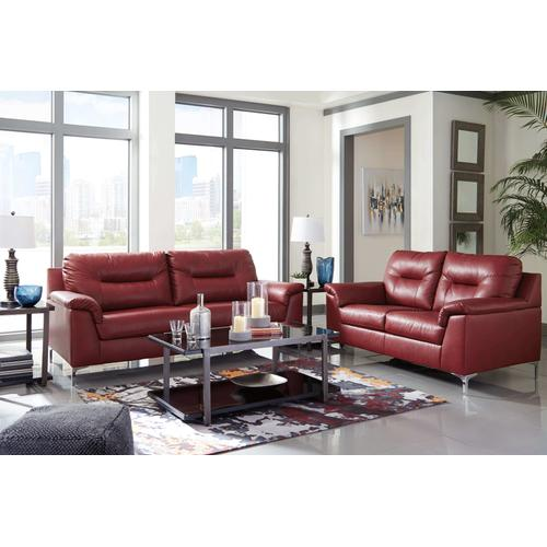 Tensas - Crimson Sofa & Loveseat