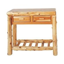 View Product - Cedar 2 Drawer Hall Table