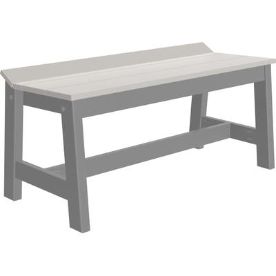 "Cafe Dining Bench 41"" Dove Gray and Slate"