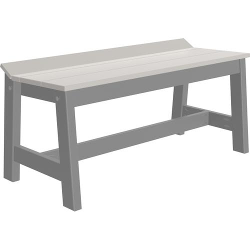 """Cafe Dining Bench 41"""" Dove Gray and Slate"""