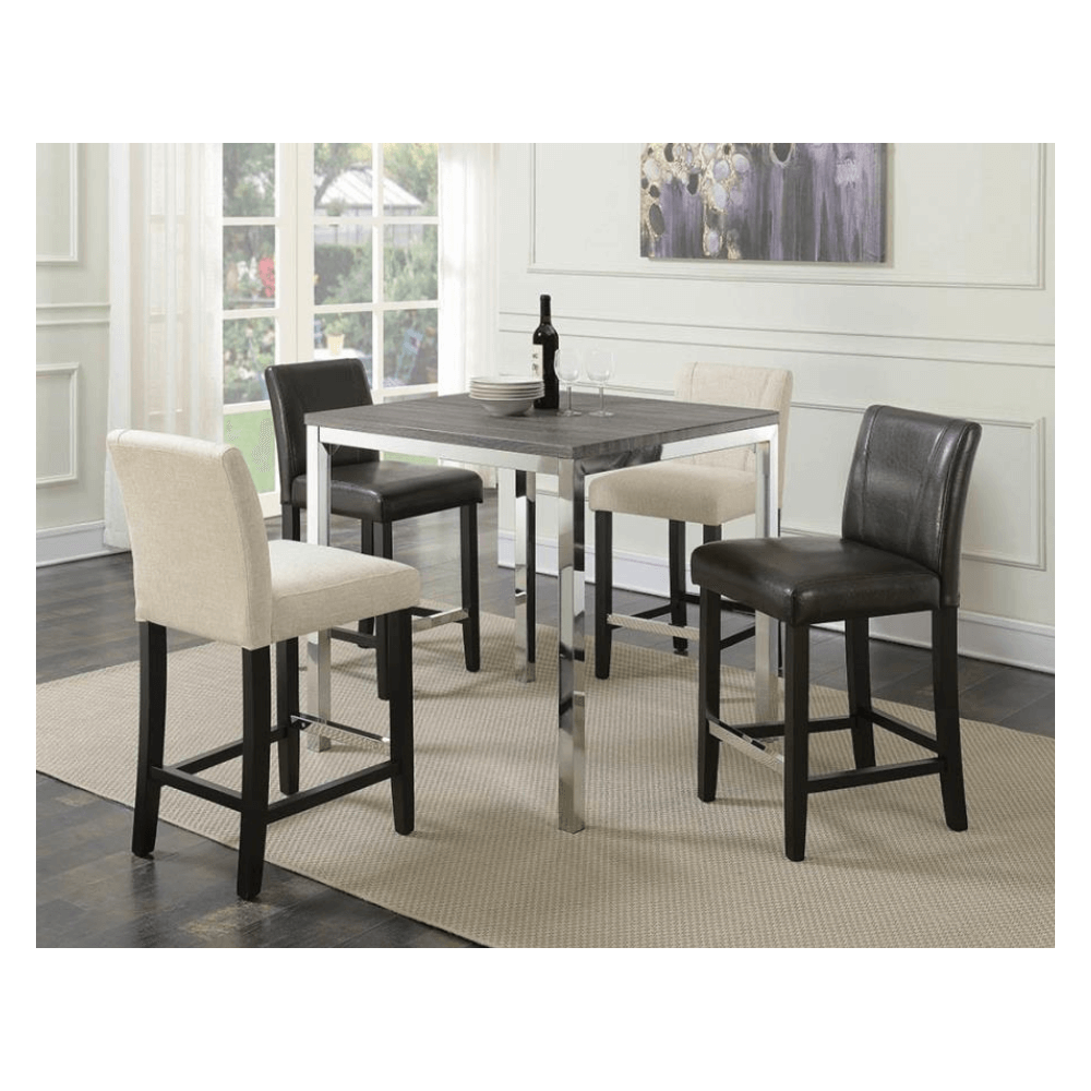 5 Pc Counter Height Dining Set