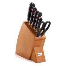 Wusthof Classic Cherry Wood Mobile Block Knife Set, 7-Piece