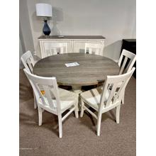 See Details - Pedestal Table & 6 Chairs