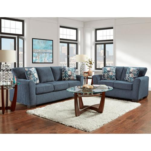 3330 Allure Navy 3PC Set: Sofa, Loveseat & Recliner