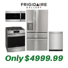 Frigidaire Gallery Kitchen Suite with Air Fry Slide-in Stove and Convertible 4-Door Refrigerator