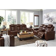 COMING SOON!!! Backtrack Power Reclining Loveseat with Adjustable Headrest