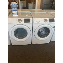 Refurbished Samsung White Washer Dryer Set. Please call store if you would like additional pictures. This set carries our 6 month warranty, MANUFACTURER WARRANTY AND REBATES ARE NOT VALID (Sold only as a set)