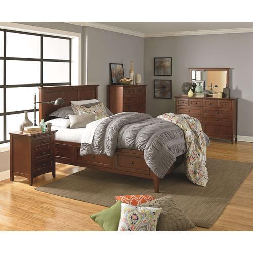 GAC McKenzie Full Storage Bed Cherry Finish