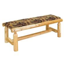 W378 White Cedar Upholstered Bench