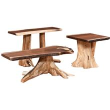 Knotty Pine Walnut Occasional Tables