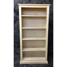 See Details - Maine Made 30X60 Bookcase 30W X 60H X 13D Pine Unfinished