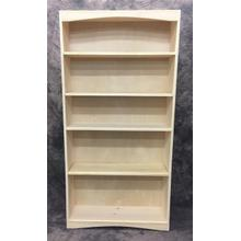 See Details - Maine Made Arched Bookcase 3 X 6 36W X 72H X 12D Pine Unfinished