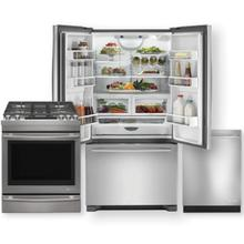 JENNAIR Stainless Steel French Door & Dual Fuel Range 3pc Kitchen Package- Minor Case Imperfections