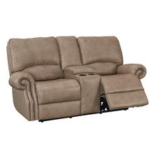 Club Level Prescott Power Loveseat in Wheat Colored Leather