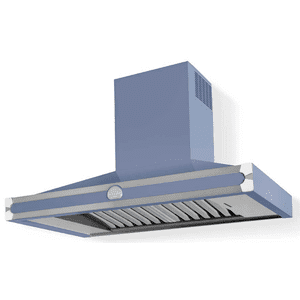 Lacornue Cornufe - Provence Blue Albertine 90 Hood with Polished Chrome Accents
