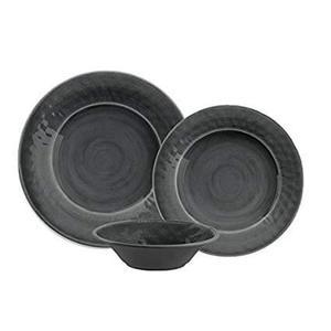 Potters Reactive Salad Plate Gray Heavy Mold