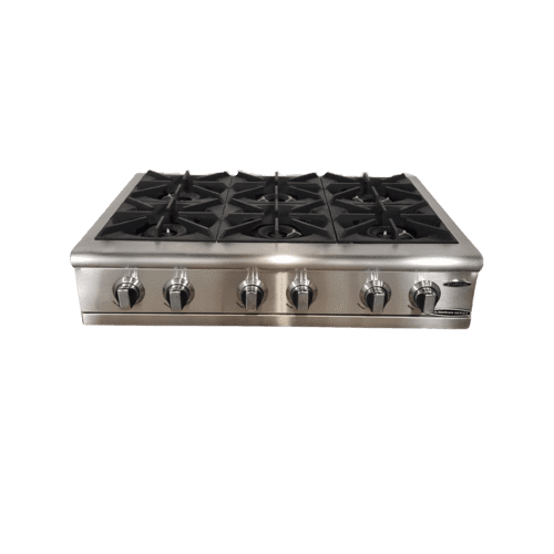 "36"" Gas Range Top with 6 Open Burners"