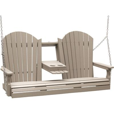 Adirondack Swing 5' Weatherwood