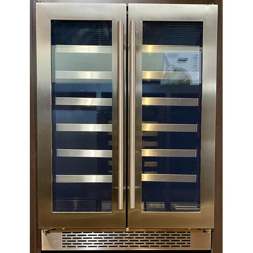 "Zephyr PRW24C32AG   24"" Dual Zone French Door Wine Cooler **Full 1 year Warranty**"
