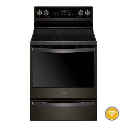 Whirlpool 6.4CF Black Stainless Steel Freestanding Convection Range with AquaLift Self Clean