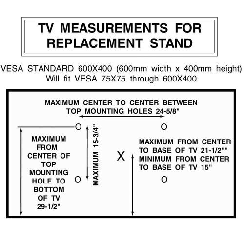 """Love TV - Universal Height Adjustable Replacement Table Top TV Stand/Base - Swivel - LED/LCD 37""""-70"""""""
