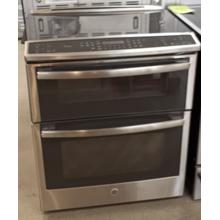 """See Details - GE Profile™ Series 30"""" Slide-In Front Control Double Oven Electric Convection Range"""