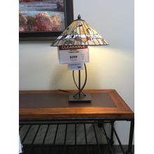 "Quoizel ""Tiffany"" Bronze TF3182TWT Table Lamp 16""W-16""D-24 1/2""H"