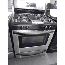 "Frigidaire 30"" stainless and black gas range - self clean - 90 day warranty - $295.00"