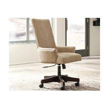 See Details - Ashley Baldridge Upholstered Swivel Desk Chair in Light Brown