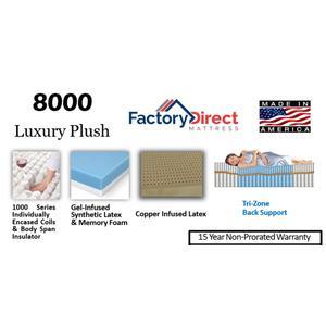 Factory Direct Mattress - 8000 - Plush