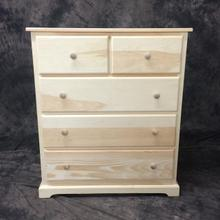 Maine Made Traditional 2 Over 3 Chest 34W X 40H X 18D Pine Unfinished
