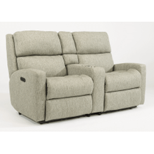 Catalina Fabric Reclining Console Loveseat
