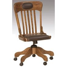 Schoolhouse Desk Chair Leather Trim