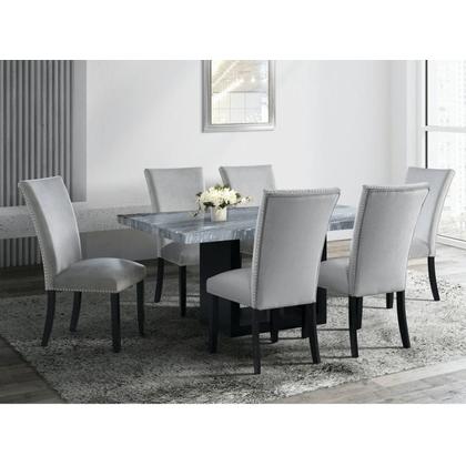 See Details - Valentino - 7 pcs Dining Set Grey