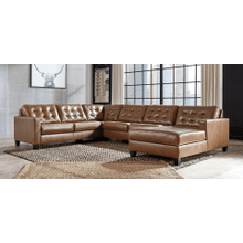 Baskove - Auburn - 3 Piece Sectional with Right Facing Chaise