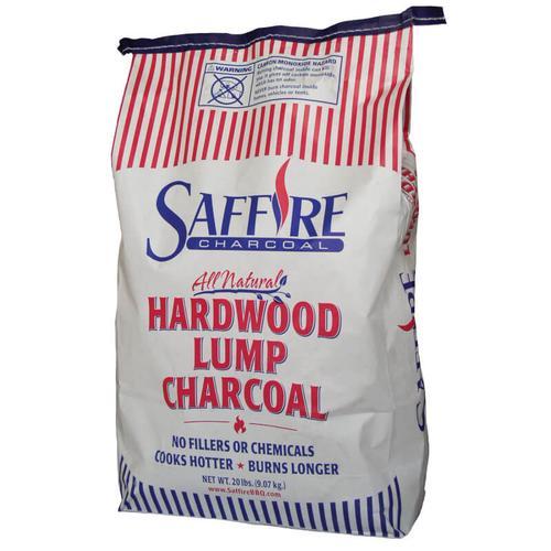 Saffire Grill & Smoker - Saffire 100% Mesquite Lump All Wood Charcoal 20lbs