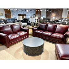 Chesapeake Burgundy Sofa & Loveseat