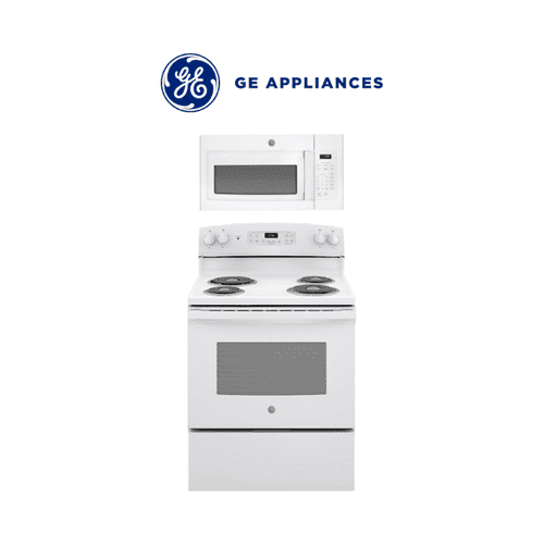 GE Electric Range & Over the Range Microwave 2 Piece Package